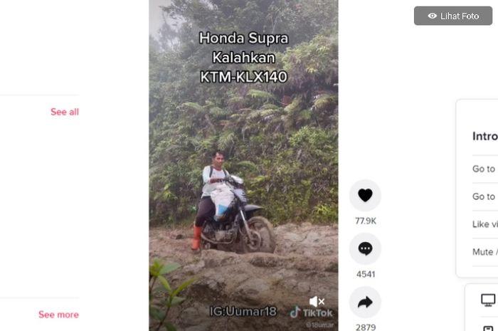 Honda Supra tahklukkan tanjakan off-road