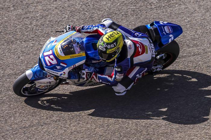 Thomas Luthi meroket di kondisi basah untuk memimpin FP1 Moto2 San Marino, 'Tim Indonesia' tempati dua dari tiga posisi teratas.
