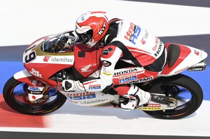 Andi Gilang di sesi Kualifikasi Moto3 San Marino 2021 (18/9)