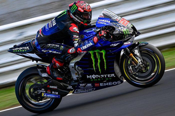 Fabio Quartararo optimis dengan sasis baru Yamaha YZR-M1 pada saat tes Misano, Italia (21/9).