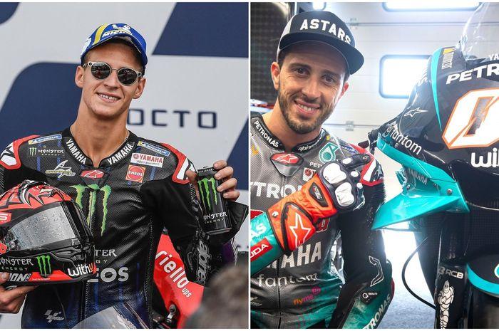Fabio Quartararo ingin Andrea Dovizioso kasih bocoran rahasia Ducati ke tim Yamaha.