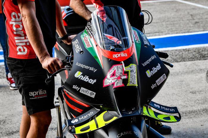 Aerodinamika Aprilia RS-GP 2022 dinilai tidak sekuat motor 2021, hanya saja lebih nyaman di tikungan.