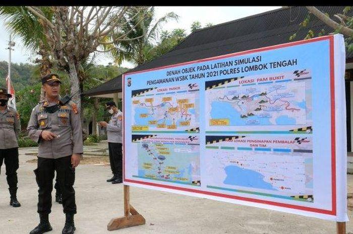 Jangan harap bisa jebol, Polisi melatih 200 personelnya untuk pengamanan WorldSBK Indonesia 2021 di sirkuit Mandalika.