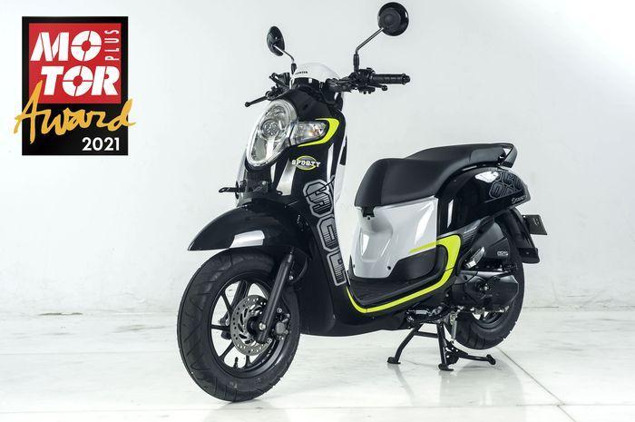 Honda Scoopy sabet Best Resale Value di MOTOR Plus Award 2021.