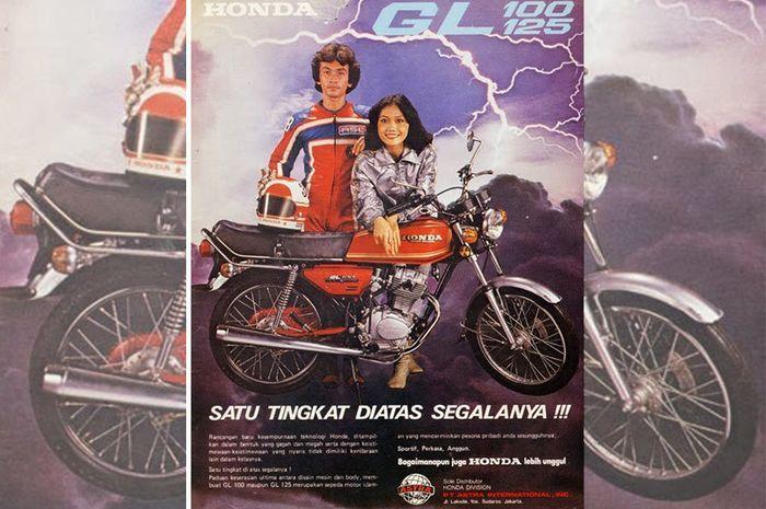 Brosur Honda GL100 dan GL125 zaman dahulu
