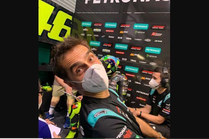 Matteo Flamigni, Ahli Telemetri Valentino Rossi sejak 2003 dan sangat sedih saat pembalapnya memutuskan untuk pensiun.