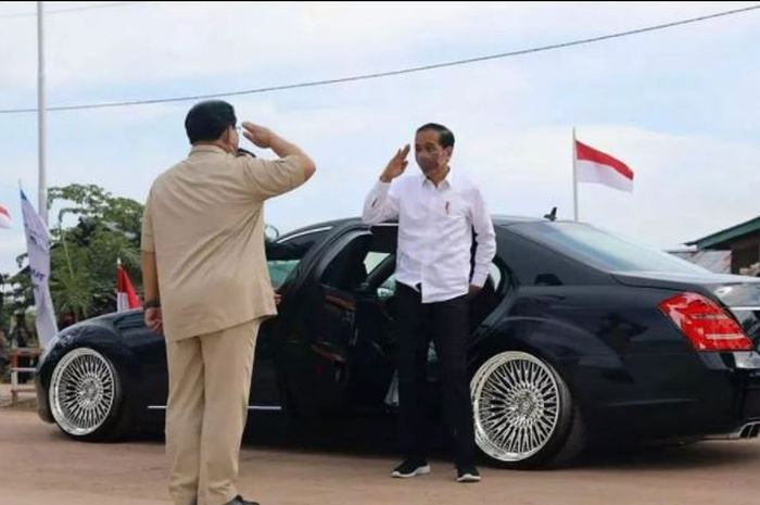 Olah digital Mercedes-Benz S 600 Guard Kepresidenan Joko Widodo memakai pelek lokal Karma Bodykit