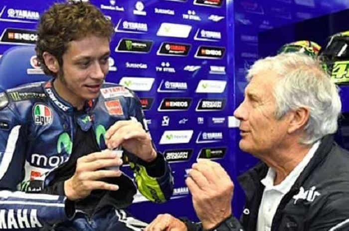 Valentino Rossi dan Giacomo Agostini.