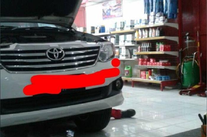 Toyota Fortuner ganti oli matic