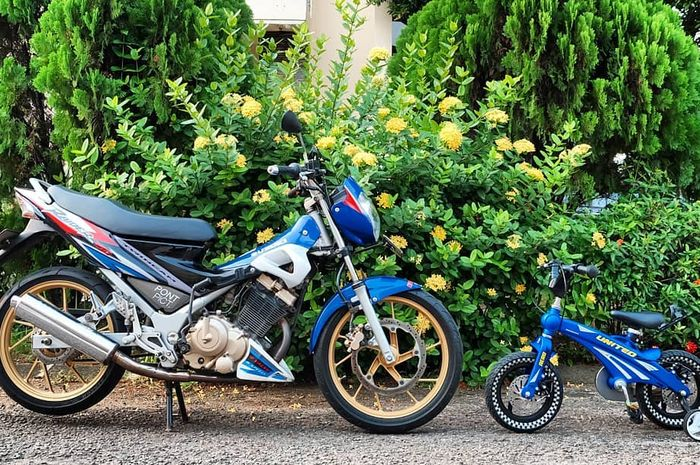 Gambar Modifikasi Satria Fu Thailand Tampang Standar Knalpot Suzuki Satria F150 Bisa Naik Performanya Gridoto Com