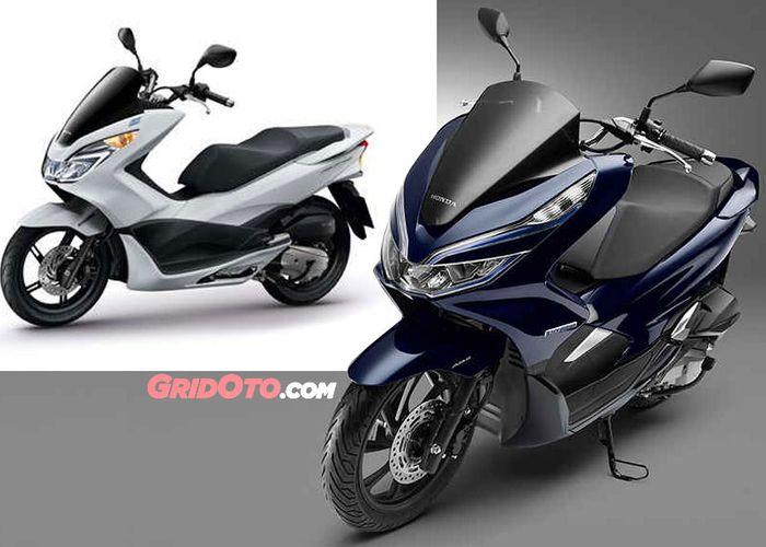 Membandingkan Tampang Honda Pcx Baru Dan Lama Kok Gak Jauh Berbeda Ya Gridoto Com
