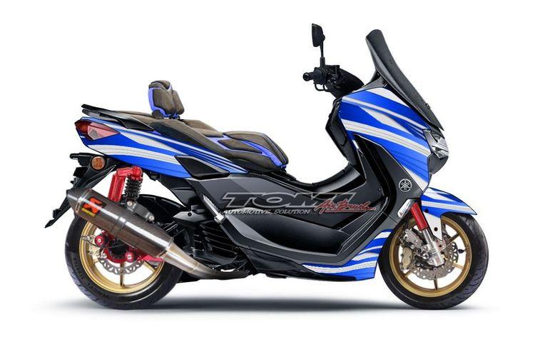 Silakan Pilih Ini Tiga Modifikasi Virtual Yamaha All New Nmax 155 Gridoto Com
