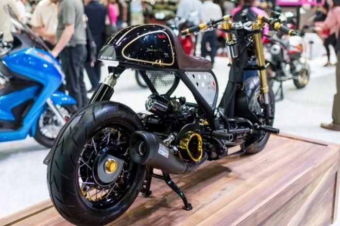 Honda Zoomers custom matic cafe racer dari SRY Shop, dilansir oleh Bikebrewers.com