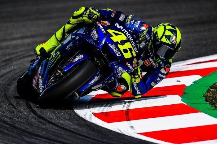 Valentino Rossi merasa balapan di Assen berjalan tidak mudah