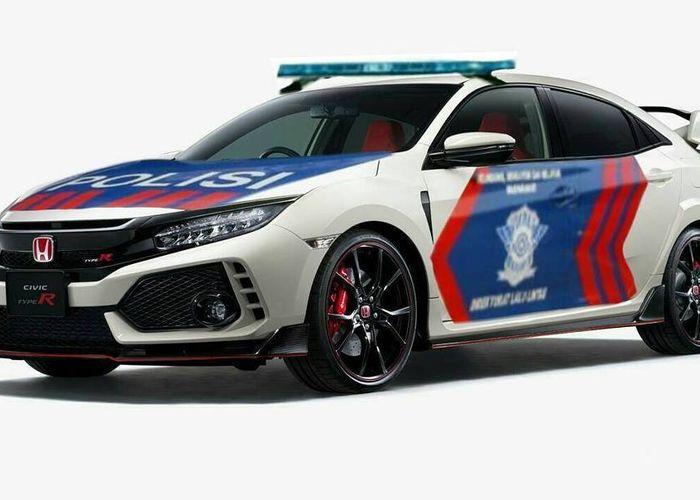 Keren Honda Civic Type R Jadi Mobil Polisi Lalu Lintas Beneran Nih Gridoto Com