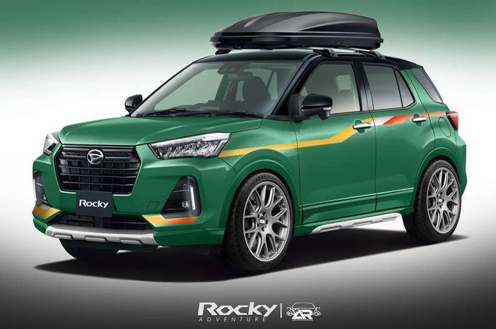 Modifikasi digital Daihatsu Rocky berkonsep retro modern