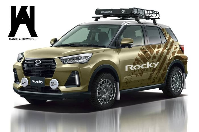 Digital modifikasi Daihatsu Rocky bergaya rally look