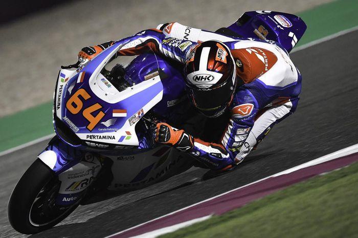 Pembalap Pertamina MAndalika SAG Team, Bo Bendsneyder yakin bisa raih hasil lebih baik pada Moto2 Doha 2021