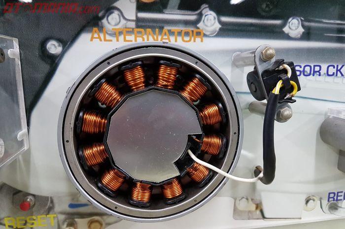 Spul atau alternator, pembangkit listrik motor