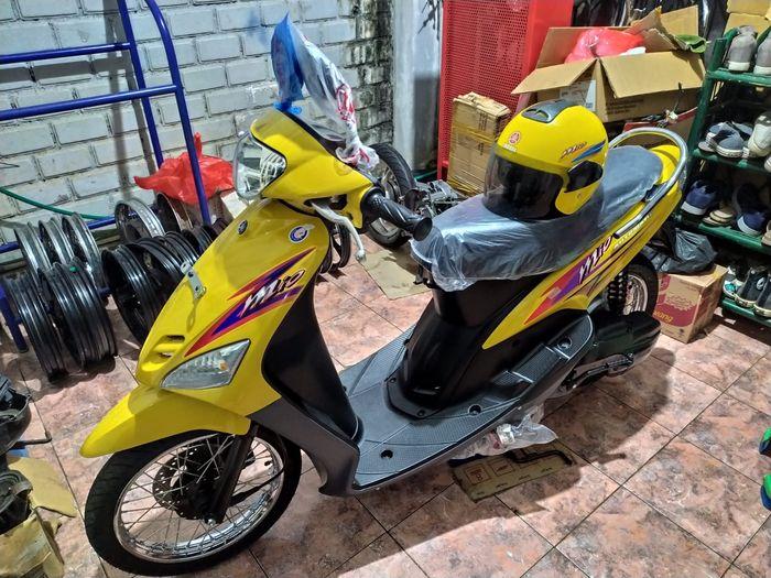 Yamaha Mio kuning milik Jimmy yang baru selesa direstorasi