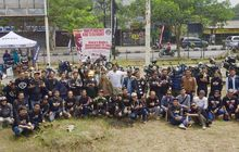 independence ride and ceremony, cara komunitas kawasaki w175 peringati hut ri