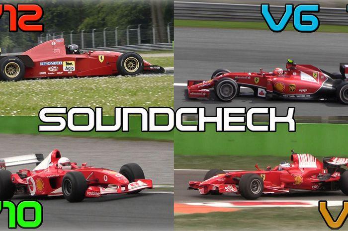 Suara mobil Formula 1 dari mesin V6 sampai V12