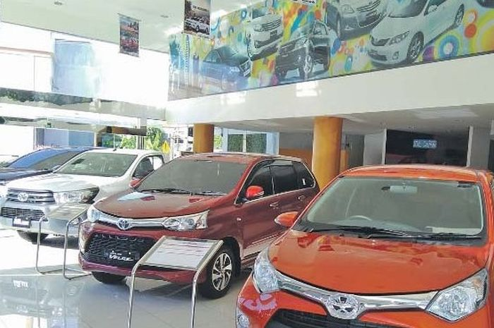 Ilustrasi mobil baru merek Toyota