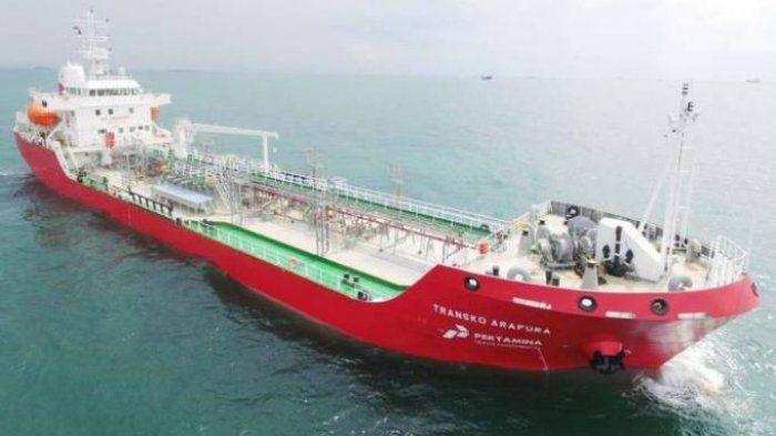Ilustrasi kapal pengangkut bahan bakar minyak (BBM) milik Pertamina