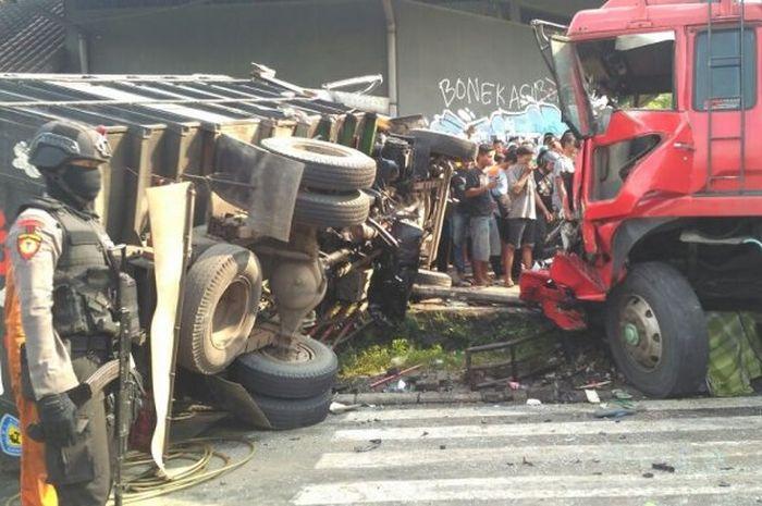 Ilutrasi Kecelakaan Truk Rem Blong di Mojosongo, Solo (6/3/2018)
