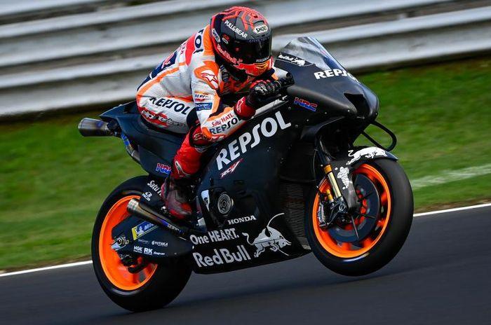 Marc Marquez menguji motor Honda RC213V spek 2022 dalam tes MotoGP Misano 2021