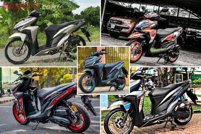 Kumpulan Modifikasi Honda Vario Dari Berbaju Motogp Hingga Bmw Hp4 Gridoto Com
