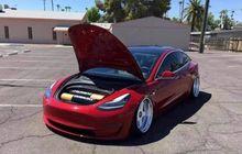 bukan mobil-mobilan, tesla model 3 bagged kece gaya merah-putih