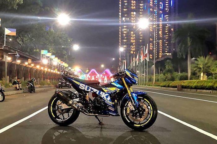 Data Lengkap Modifikasi Suzuki Satria F150 Berkaki Super Kekar Gridoto Com