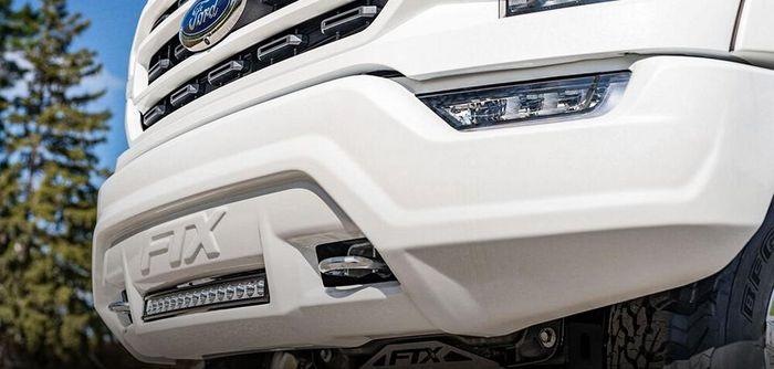 Bumper depan modifikasi Ford F-150 dibikin lebih gondrong