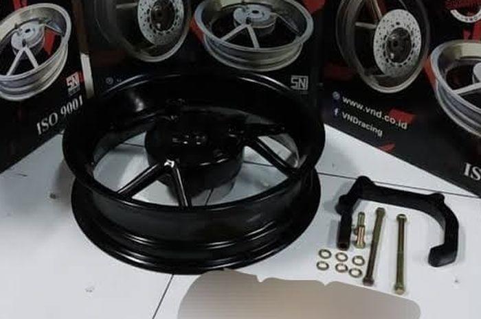 Isi paket pelek double disk VND buat Yamaha Aerox 155