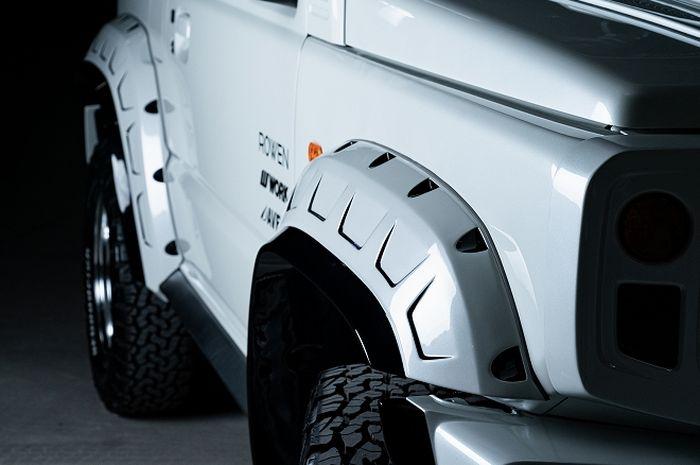 Over fender kekar pada Suzuki Jimny baru