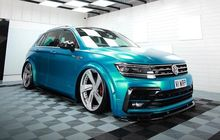 VW Tiguan Kece Dimodif Stance, Kaki Melata dan Jubah Biru Bikin Segar