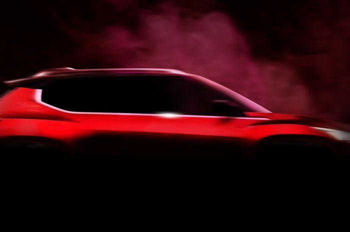 Teaser SUV yang kemungkinan merupakan Nissan Magnite