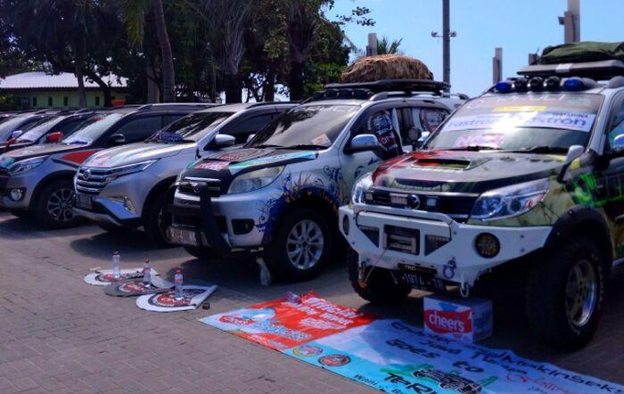 Beberapa kendaraan peserta gathering nasional TeRuCI