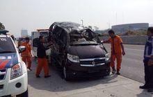 apv pecah ban tewaskan tiga orang, jasa marga minta pengendara patuhi batas maksimal penumpang