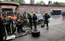 keluar tidak aman di pit lane saat balap f1, penaltinya akan diseragamkan