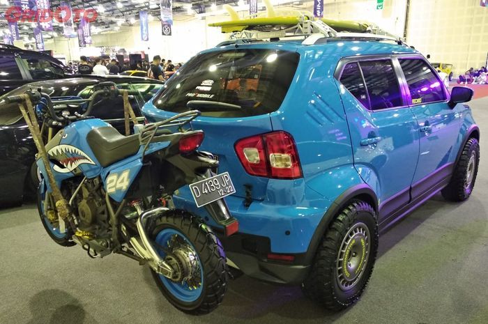 Bukan Kaleng Kaleng Suzuki Ignis Rally Look Bisa Angkut Kawasaki