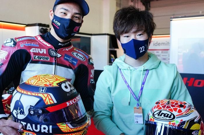Takaaki Nakagami dan Yuki Tsunoda bertemu di MotoGP San Marino. Banyak kesamaan dari kedua pembalap asal Jepang ini.