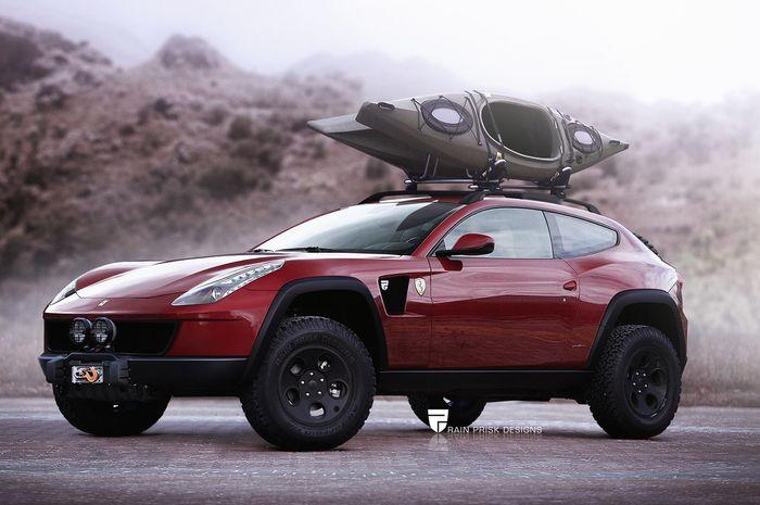 Off Road Design >> Cocok Enggak Nih Kalau Ferrari Ff Diubah Jadi Mobil Off Road