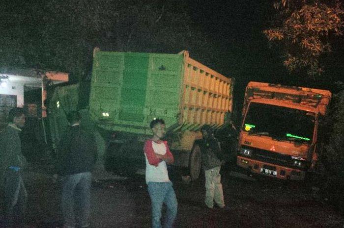Tiga truk tronton terlibat kecelakaan di Sukabumi