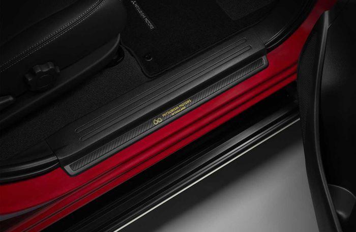 Sillplate khusus di kabin Mitsubishi Triton Passion Red Edition