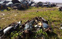 Pemandangan Memilukan, Ada Kuburan Motor dan Mobil Polisi di Marunda