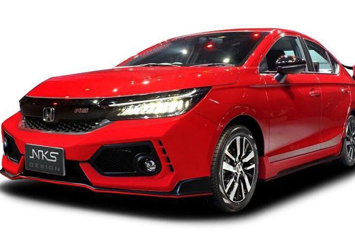 Tampilan depan modifikasi Honda City ala Civic Type R kreasi NKS Design