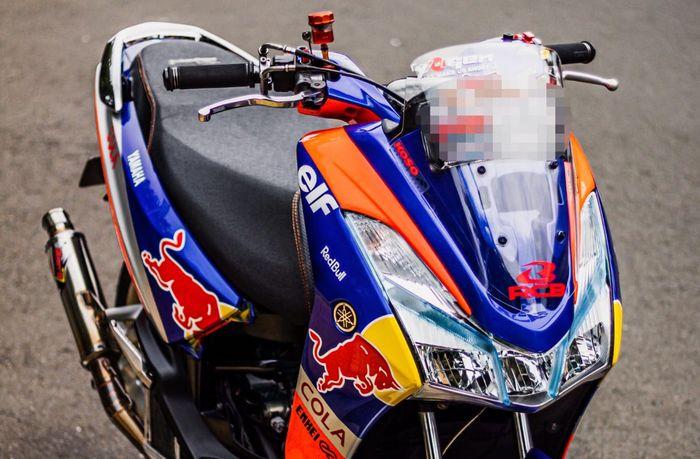 Sekujur bodi Yamaha Lexi custom cat ala Redbull KTM Tech3 MotoGP