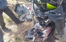 yamaha nmax adu banteng honda cbr 150r pengiring ambulans, satu balita meninggal